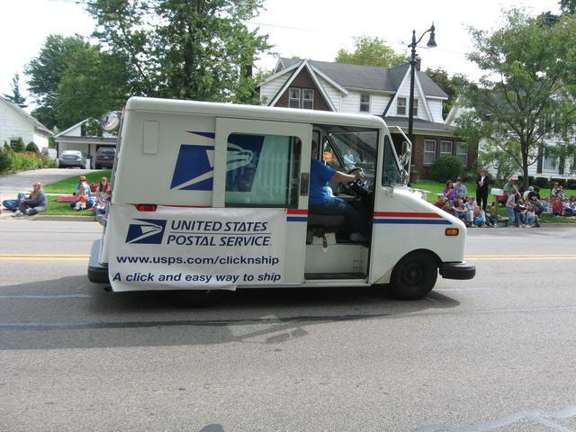 2011 Postal Truck in Fall Festival Parade