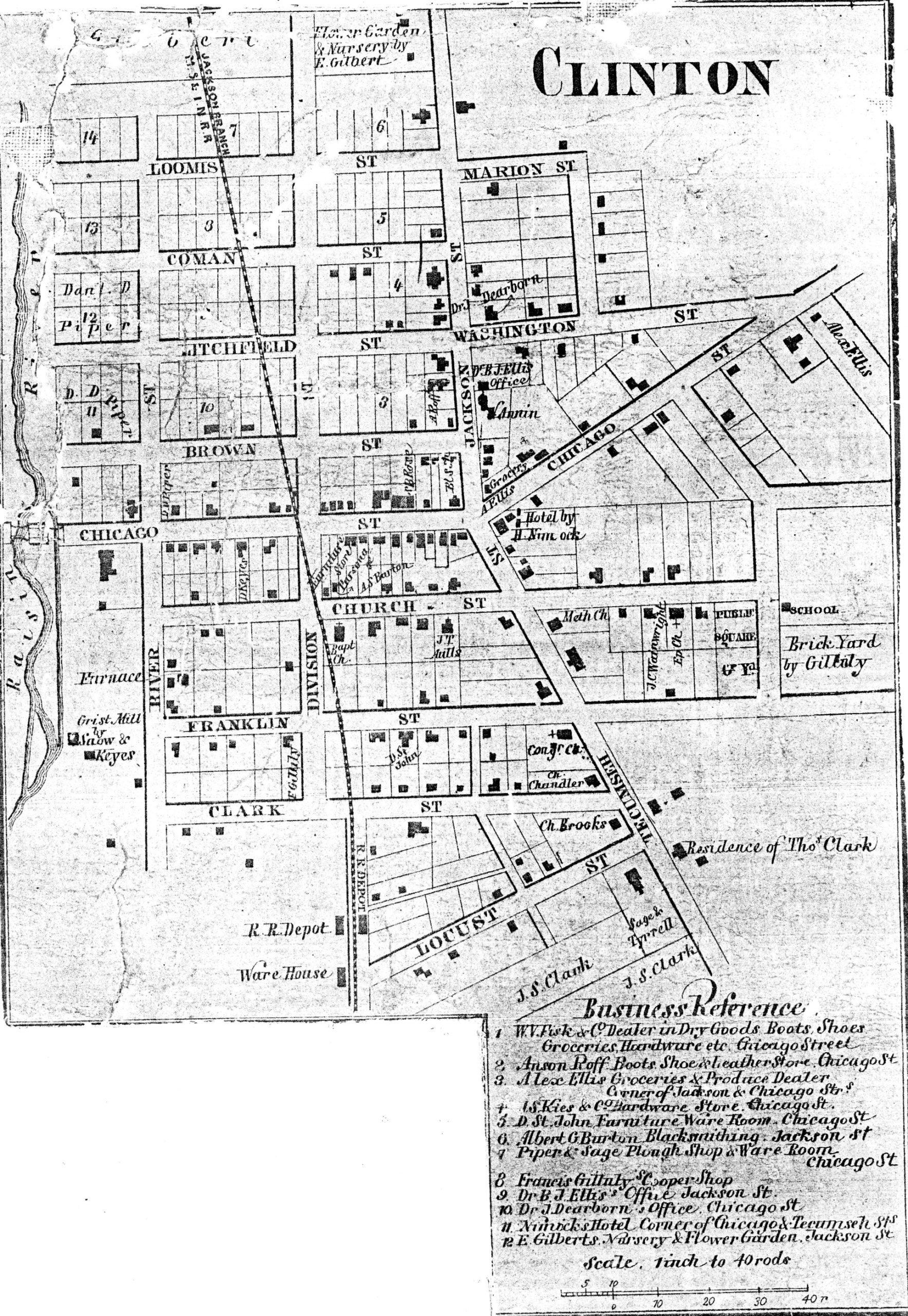 Clinton. 1857 Map