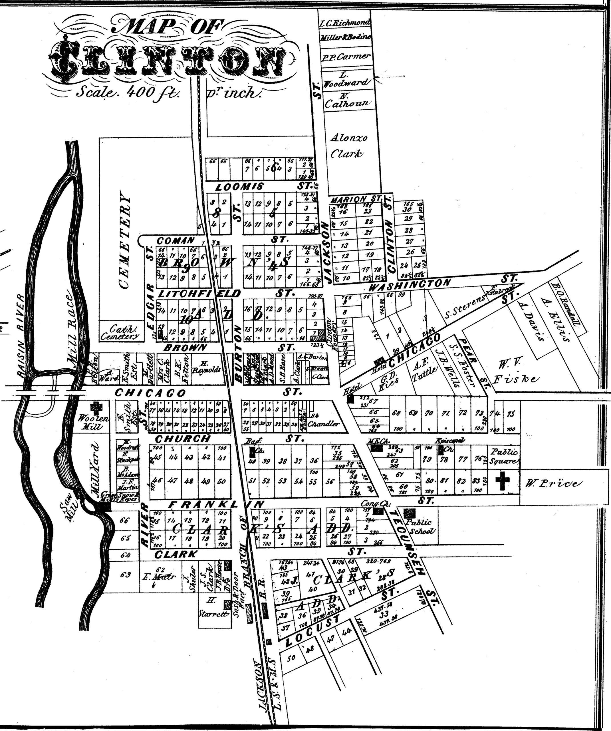 Clinton 1874 Map