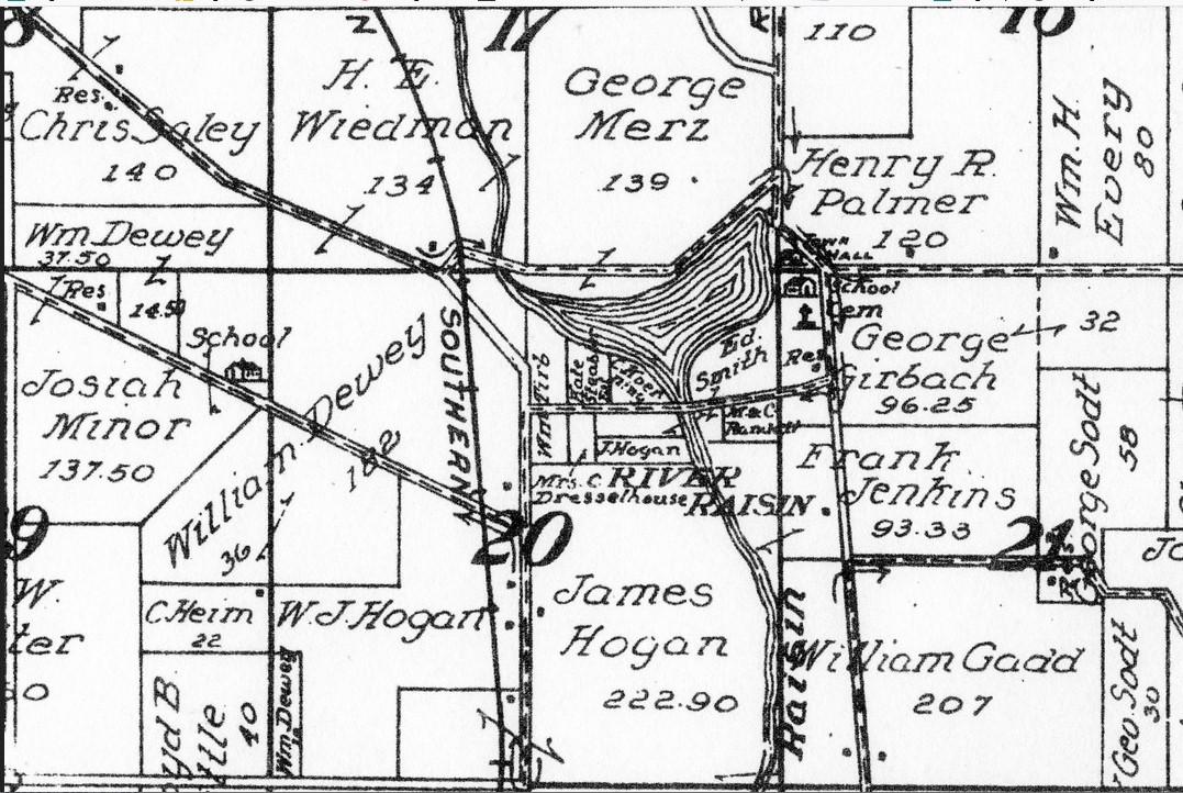 Rver Raisin Detail Map for 1895