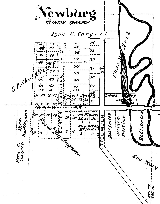 Newburg 1893 Map